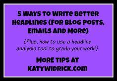 5 Ways to Write Bett