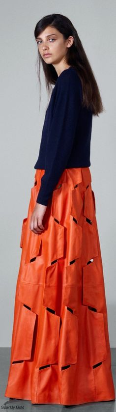 Osman Resort 2016 …the details on this maxi  skirt are incredible…
