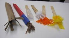Handmade paint brushes for preschool | Teach Preschool