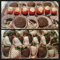 Yummy!!!! Chocolate covered strawberries.  & cookies!!