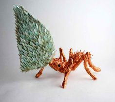 Intricate Animal Sculptures Made from Reclaimed CDs