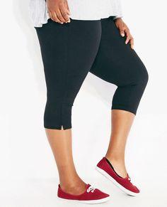 a0b77aebdb9e7 Plus Size Solid Capri Yoga Pants Wet Seal Plus Plus Size Yoga Pants Plus  Size Yoga