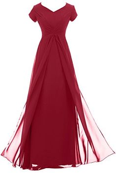 Sunvary Woman Vintage Long Chiffon Mother of the Bride Dresses with Short Sleeves Prom Evening Gowns Bridesmaid Dress US Size 22W- Burgundy Sunvary http://www.amazon.com/dp/B00MA4P3FG/ref=cm_sw_r_pi_dp_ZU-0ub0Y9X6AF