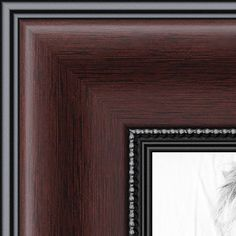 arttoframes 9x9 inch mahogany and burgundy with beaded lip picture frame womn9590 9x9