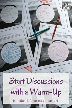 Are you looking for discussion starters and strategies that will work in your classroom for any text? Read this post about one successful discussion, and discover five strategies you can use in your next discussion. Plus, it includes the chance to get fifteen free creative discussion warm-up activities.