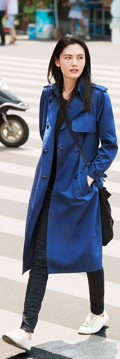 This coat is Tardis Blue, one more reason to want it...