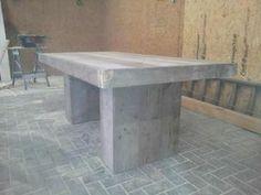 ≥ Kolompoot tafel van nieuw of gebruikt steigerhout - Tafels | Eettafels - Marktplaats.nl