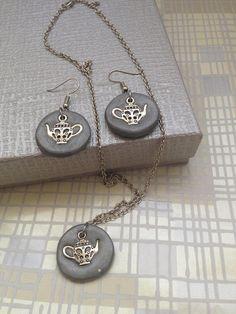 Handmade polymer clay jewelry original jewelry unique with