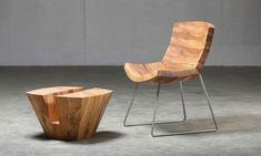 echtholzmöbel naturholz stuhl hocker