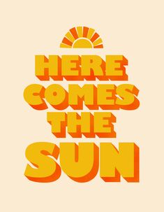 Here comes the sun Metal Print by showmemars - LARGE Bedroom Wall Collage, Photo Wall Collage, Picture Wall, Sun Background, Cute Patterns Wallpaper, Favorite Book Quotes, Orange Aesthetic, Journal Themes, Sun Art