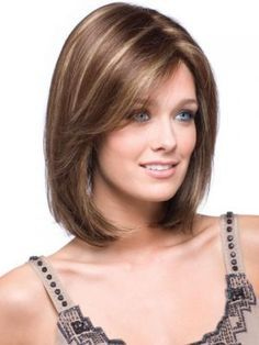 medium length hair for square faces With Bangs 1