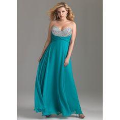 chiffon plus size evening dresses