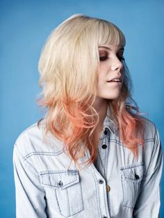 Blonde with Pastel Orange Tips maybe I'll try this with the henna I have?