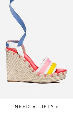 What a fun daytime wedge by Kate Spade, Spring 2016. Just got an e-mail offer from them, tempting!