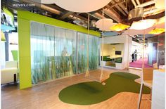 Swings at the workplace in Google Dublin.