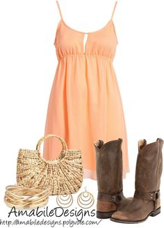 """""""Summer Time Country Girl"""" by amabiledesigns on Polyvore"""