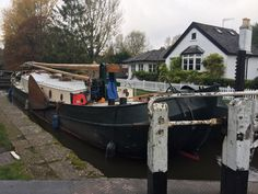 Dutch sailing barge 1926. Tjalk barge cruising the grand union canal 2016