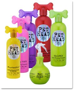 """These are my favorite doggy """"styling"""" products!  I love the Blueberry Muffin No Rinse Shampoo spray!  Cuts the dog smell totally!"""