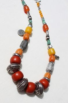 Colorful Authentic Moroccan necklace by handmadebyinali on Etsy