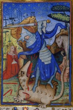 St. George and the dragon  book of hours, Ghent 15th century (Baltimore, The Walters Art Museum, Walters Manuscript W.170, fol. 157v)
