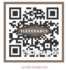 Flexurance designer QR code with logo integration