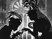 Lotte Reiniger - early cut-paper animation - possibly the first feature-length animation ever. (Earlier even than Snow White)