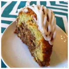 Cinnamon Swirl Bundt Cake with Vanilla Glaze- Sugar and Spice Girls Bundt cake