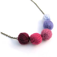 Little Livingstone: How to Make a Gradient Wool Bead Necklace