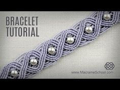 Eternal Wave Bracelet Tutorial in Vintage Style | Macrame School - YouTube