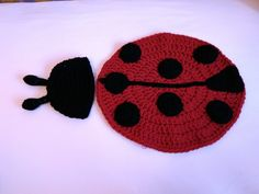 Ladybird cover and hat, for baby photos