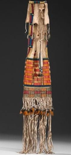 Cheyenne Beaded Hide Tobacco Bag