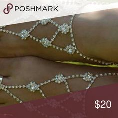 Crystal Barefoot Sandals 1 New pair of Crystal barefoot sandals. See boutique for more fashions! Follow us for daily trends!  #love #beauty #makeup #fashion #swimsuit #streetwear #style #trend #boho #matte #201 #designer #crop #mid #wedding #marriage #women #plussize #plus #petite #small #medium #large #unicorn #brush #gold #silver #human #hair #dress #shirt #short #top #sunglasses #watches #jewelry #choker #multilayer #bohemian #rings #leggings #necklace #bracelet #crop #mini #sweater…