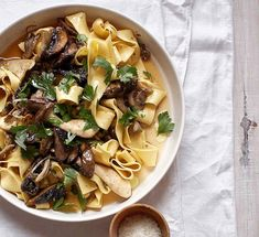 Australian Gourmet Traveller fast Italian recipe for pappardelle with mushroom ragù (pappardelle con misto di funghi).