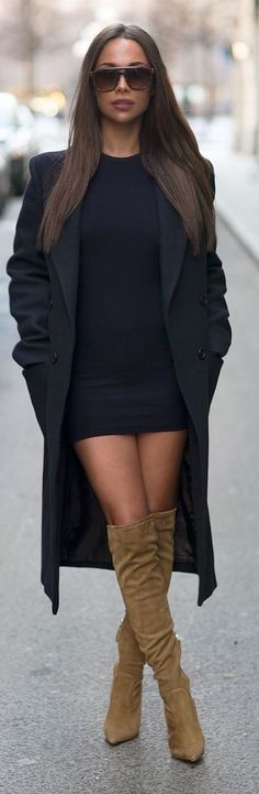 Mini LBD | Over-the-Knee boots.