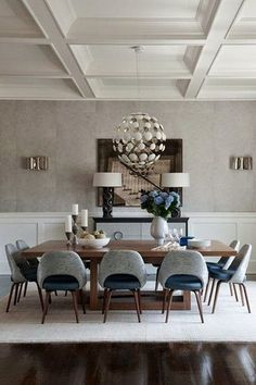 Awesome 41 Luxury and Elegant Dining Room Ideas. More at https://trend4homy.com/2018/05/21/41-luxury-and-elegant-dining-room-ideas/