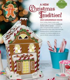 Limited Edition 2015 Gingerbread House Warmer! Only 20,000 made! Get yours before they are gone forever!!!  https://amymann.scentsy.us/