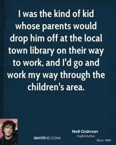 Neil Gaiman on Libraries.