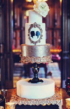 Gorgeous old world #wedding #cake ~ New Year's Wedding Inspiration : Somewhere In Time | bellethemagazine.com
