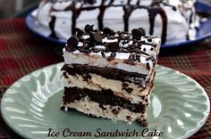 Deliciously Easy Ice Cream Sandwich Cake. {Store bought ice cream sandwiches all dressed up}