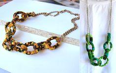 fabric chain necklace  collana di stoffa