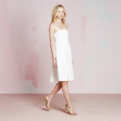 Nicolette Dress | vivianchan - #whitedress #bridalshower #summer2015 #summerisVIVIANCHAN #straplessdress #summerdress