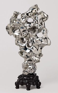 Zhan Wang . artificial rock #10 假山石, 2001 | Among the leading contemporary artists in China, with a practice deeply informed by traditional and contemporary Chinese philosophy, culture, and society, Zhan Wang produces sculptures and installations that are both boldly physical and tantalizingly conceptual. #sculpture #metal