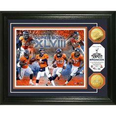 Denver  Broncos Super Bowl XLVIII Team Force Gold Coin Photo Mint. Click to  order 91f0fc144