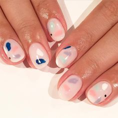 Pink Pastel Nail Art