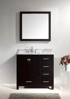 """36"""" Virtu Caroline GS-50036-ES bathroom vanity"""