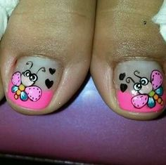Resultado de imagen para uñas para pies Pedicure Nail Art, Toe Nail Art, Manicure, Diy Nail Designs, Pedicure Designs, Feet Nails, My Nails, Cruise Nails, Funky Nail Art