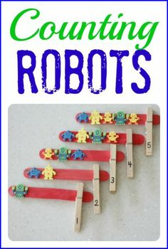 Counting Robots- Pinned by @PediaStaff – Please Visit  ht.ly/63sNt for all our pediatric therapy pins
