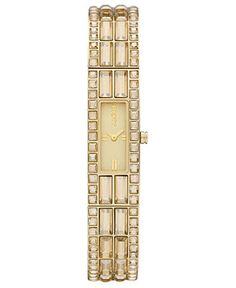 DKNY Watch, Women's Gold Ion Plated Stainless Steel Bracelet 13x33mm NY8630 - All Watches - Jewelry & Watches - Macy's