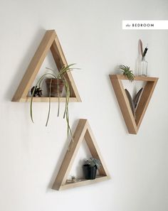 Triangles Wall Shelf | thehousethatlarsbuilt