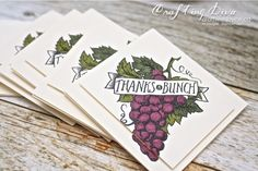 Craft with Joyce - Berry Basket thank you cards